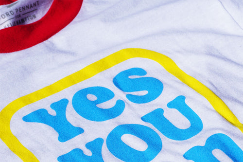 Kelle Hampton x Oxford Pennant - Yes You Can Adult Ringer Tee