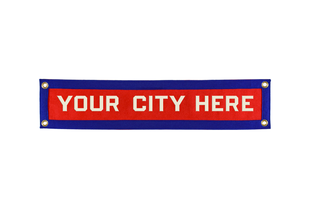 Custom Hometown Banner • Oxford Pennant Original