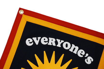 Kelle Hampton x Oxford Pennant - Everyone's Invited Camp Flag
