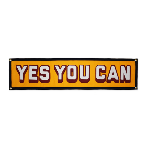 Yes You Can Gold Banner • Kelle Hampton x Oxford Pennant Original