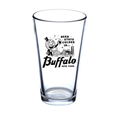 Beer Stays Colder in Buffalo Pint Glass
