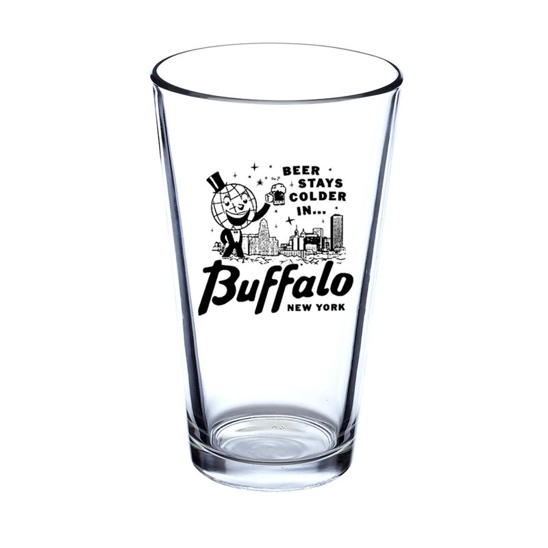 Beer Stays Colder in Buffalo Pint Glass • Oxford Pennant Original