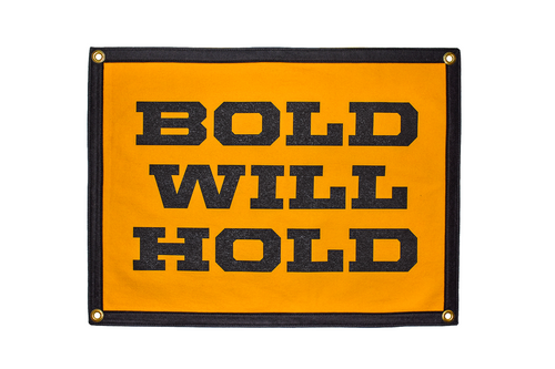 Bold Will Hold Camp Flag