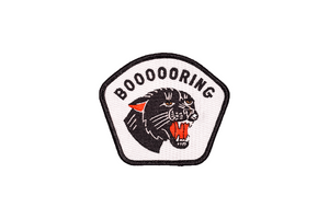 Boooooring Embroidered Patch