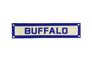 Brooklyn, New York hand-sewn wool felt banner