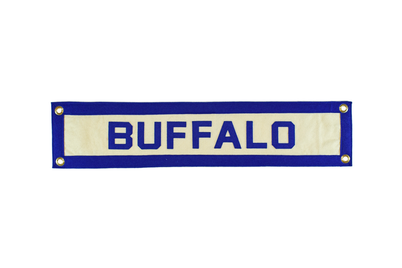Vintage Buffalo, New York Pennant - Framed