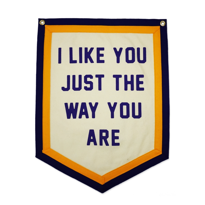 Kelle Hampton x Oxford Pennant - I Like You Just The Way You Are Camp Flag
