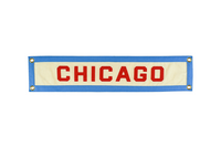 Chicago, Illinois hand-sewn wool felt banner.