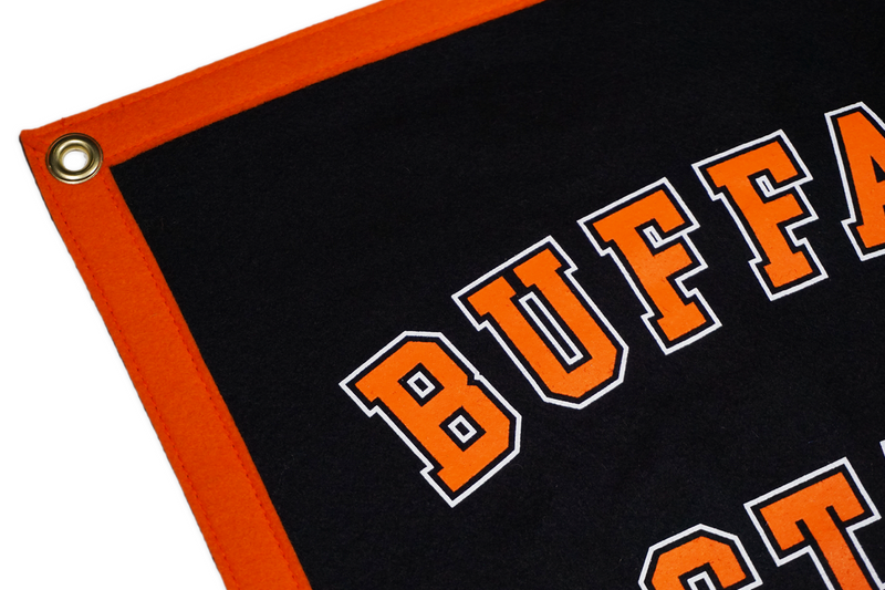 Buffalo State College Camp Flag, 5-Sided • Oxford Pennant Original