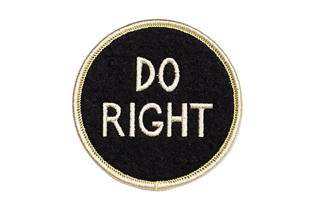 Oxford Pennant - Do Right - Embroidered Patch
