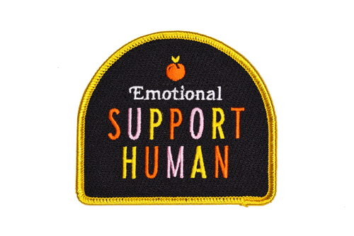 Emotional Support Human Embroidered Patch • Maxine x Oxford Pennant