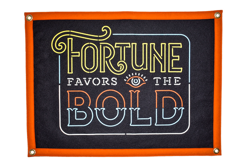 Fortune Favors The Bold Camp Flag • Holy Smokes x Oxford Pennant