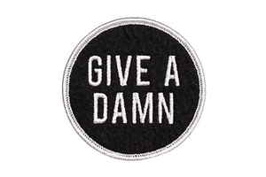 Oxford Pennant - Give A Damn - Embroidered Patch