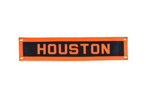 Houston, Texas hand-sewn wool felt banner.