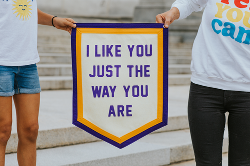I Like You Just The Way You Are Camp Flag • Kelle Hampton x Oxford Pennant Original