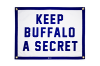 Keep Buffalo A Secret Camp Flag • Oxford Pennant Original