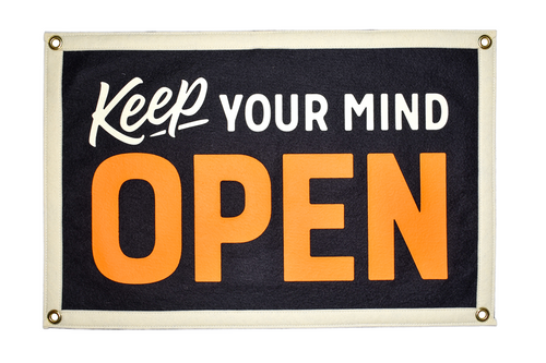 PRESALE: Keep Your Mind Open Camp Flag • Holy Smokes x Oxford Pennant