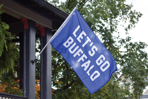 Let's Go Buffalo Outdoor Flag • Oxford Pennant Original