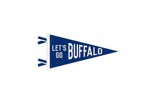 Let's Go Buffalo Pennant Sticker