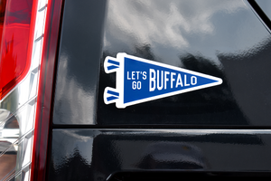 Let's Go Buffalo Pennant Sticker • Oxford Pennant Original