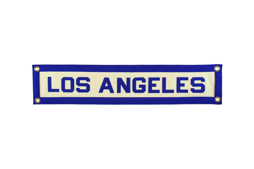 Los Angeles, California hand-sewn wool felt banner.