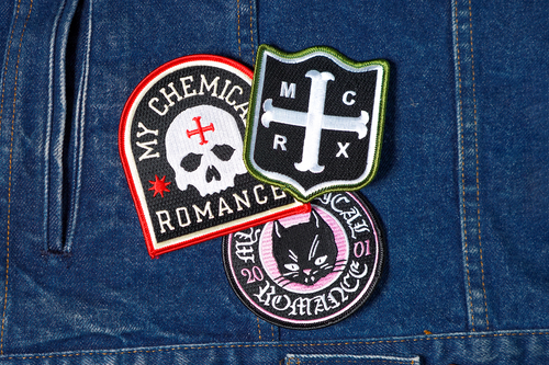 My Chemical Romance Embroidered Patch 3-Pack • My Chemical Romance x Oxford Pennant