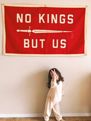 No Kings But Us Championship Banner • United By Blue x True Hand Society x Oxford Pennant Original