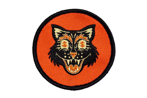 Money Cat Embroidered Patch