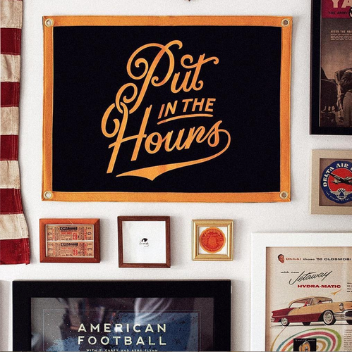 Put in the Hours Camp Flag