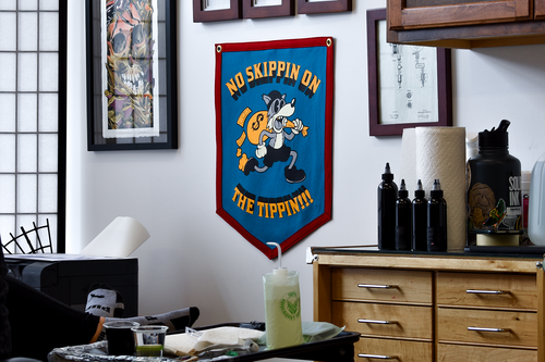 No Skippin' On The Tippin'!!! Camp Flag