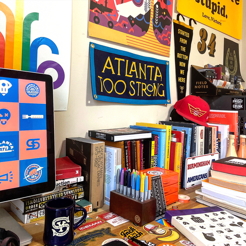 Atlanta Too Strong Camp Flag • Chrome Yellow x Office of Brothers x Oxford Pennant Original
