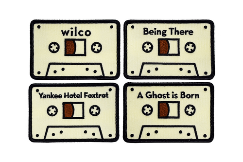 Wilco x Oxford Pennant • Embroidered Patches - Set of 4 Cassettes