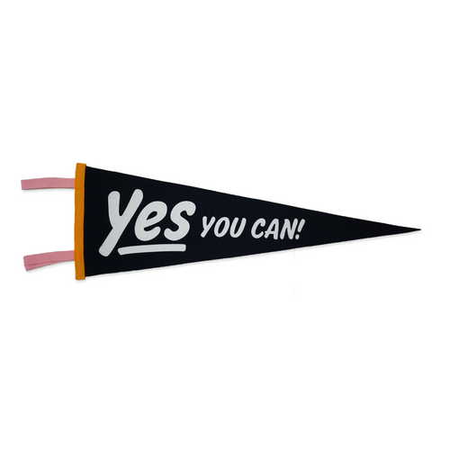 Yes You Can Pennant, Navy • Kelle Hampton x Oxford Pennant