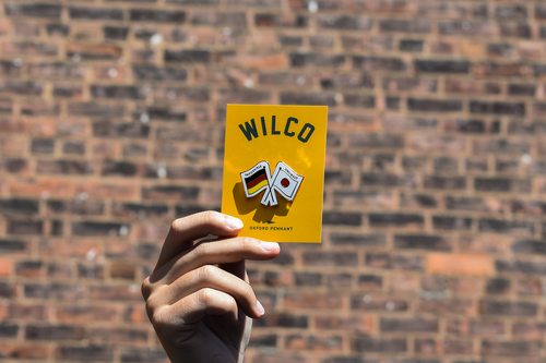 Impossible Unlikely Enamel Pin • Wilco x Oxford Pennant Original