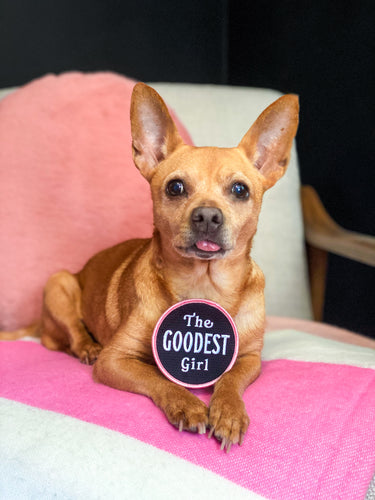 The Goodest Girl Embroidered Patch • Maxine x Oxford Pennant