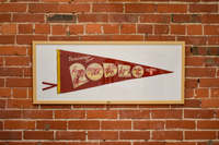 Vintage Souvenir of the Rodeo Pennant - Framed