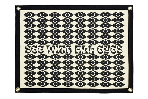 See With All Eyes Camp Flag • Real Fun, Wow! x Oxford Pennant