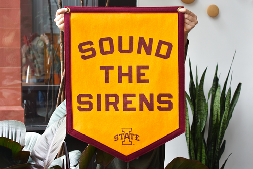 Sound The Sirens Camp Flag