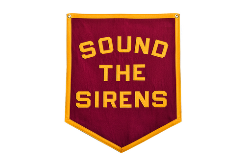 Sound The Sirens Championship Banner