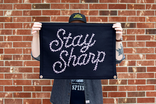 Stay Sharp Camp Flag • Holy Smokes x Oxford Pennant