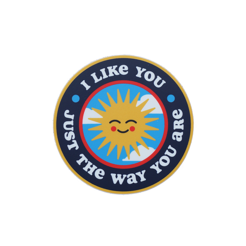 Just The Way You Are Sticker • Kelle Hampton x Oxford Pennant Original