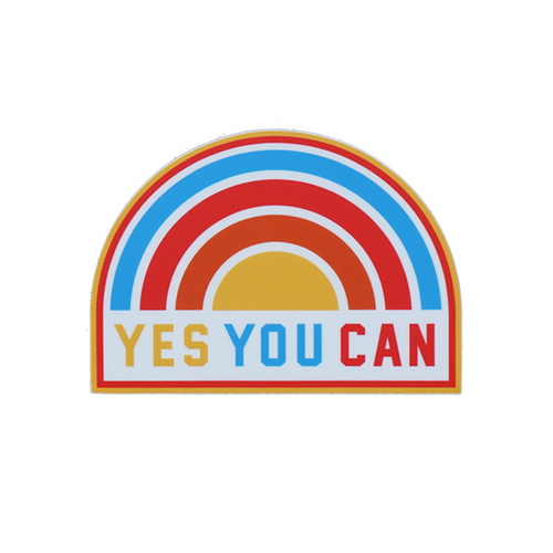 Yes You Can Rainbow Sticker • Kelle Hampton x Oxford Pennant Original