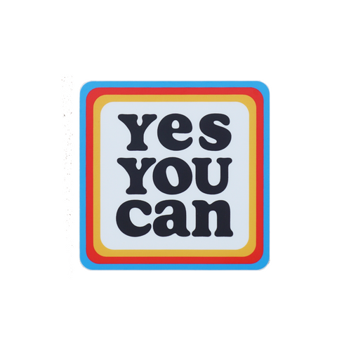Yes You Can Sticker • Kelle Hampton x Oxford Pennant Original