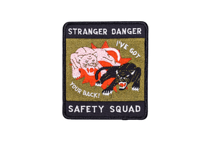 Stranger Danger Safety Squad Embroidered Patch • Oxford Pennant Original