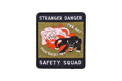 Stranger Danger Safety Squad Embroidered Patch
