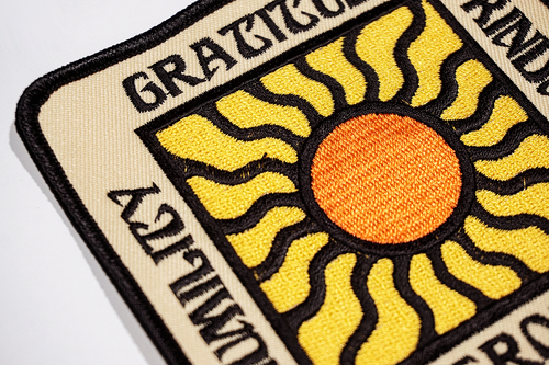 Gratitude Embroidered Patch • Real Fun, Wow! x Oxford Pennant