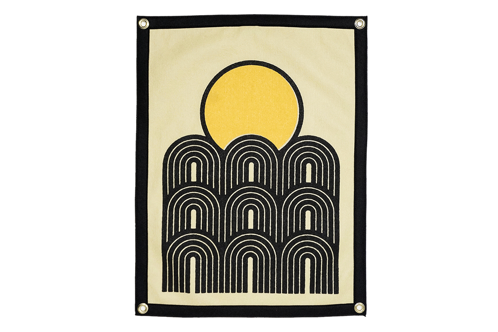 Real Fun, Wow! x Oxford Pennant • Camp Flag - Sunset
