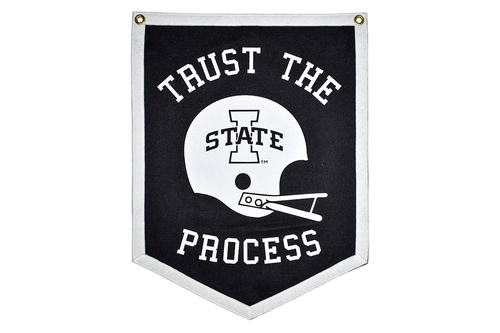 Trust The Process 5 Sided Camp Flag