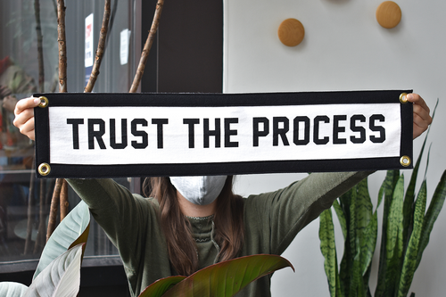 Trust The Process Camp Flag