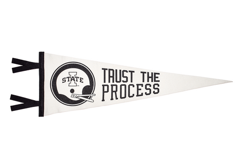 Trust The Process White Pennant